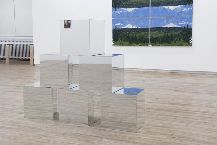 Grier Edmundson, perfect nothings (after AW), 2013. MDF, mirror. Photo from gallery website.